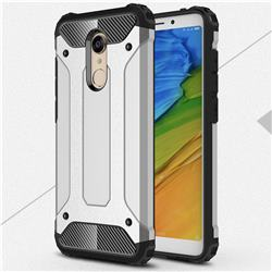 King Kong Armor Premium Shockproof Dual Layer Rugged Hard Cover for Mi Xiaomi Redmi 5 - Technology Silver
