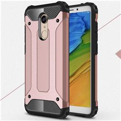 King Kong Armor Premium Shockproof Dual Layer Rugged Hard Cover for Mi Xiaomi Redmi 5 - Rose Gold