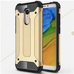 King Kong Armor Premium Shockproof Dual Layer Rugged Hard Cover for Mi Xiaomi Redmi 5 - Champagne Gold