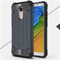 King Kong Armor Premium Shockproof Dual Layer Rugged Hard Cover for Mi Xiaomi Redmi 5 - Navy
