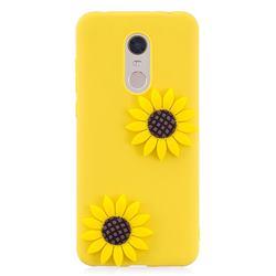 Yellow Sunflower Soft 3D Silicone Case for Mi Xiaomi Redmi 5