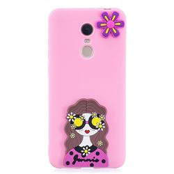 Violet Girl Soft 3D Silicone Case for Mi Xiaomi Redmi 5
