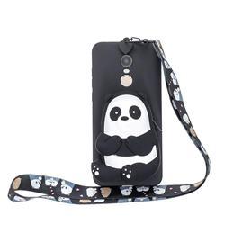 Cute Panda Neck Lanyard Zipper Wallet Silicone Case for Mi Xiaomi Redmi 5