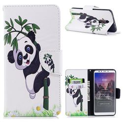 Bamboo Panda Leather Wallet Case for Mi Xiaomi Redmi 5