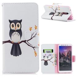 Owl on Tree Leather Wallet Case for Mi Xiaomi Redmi 5