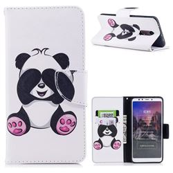 Lovely Panda Leather Wallet Case for Mi Xiaomi Redmi 5
