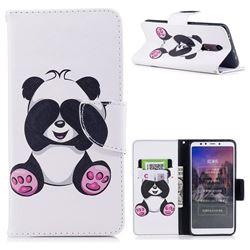 Lovely Panda Leather Wallet Case for Mi Xiaomi Redmi 5