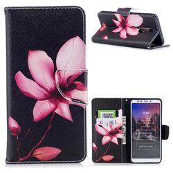 Lotus Flower Leather Wallet Case for Mi Xiaomi Redmi 5