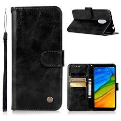Luxury Retro Leather Wallet Case for Mi Xiaomi Redmi 5 - Black