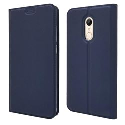Ultra Slim Card Magnetic Automatic Suction Leather Wallet Case for Mi Xiaomi Redmi 5 - Royal Blue