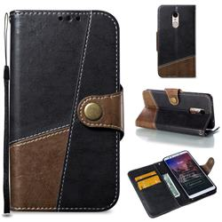 Retro Magnetic Stitching Wallet Flip Cover for Mi Xiaomi Redmi 5 - Dark Gray
