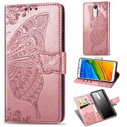 Embossing Mandala Flower Butterfly Leather Wallet Case for Mi Xiaomi Redmi 5 - Rose Gold
