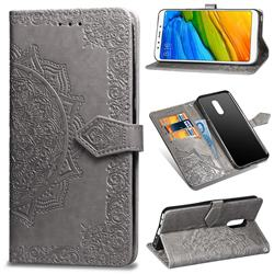 Embossing Imprint Mandala Flower Leather Wallet Case for Mi Xiaomi Redmi 5 - Gray