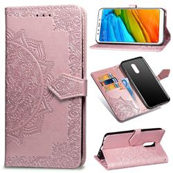 Embossing Imprint Mandala Flower Leather Wallet Case for Mi Xiaomi Redmi 5 - Rose Gold