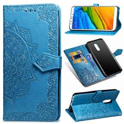 Embossing Imprint Mandala Flower Leather Wallet Case for Mi Xiaomi Redmi 5 - Blue