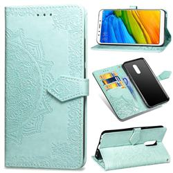 Embossing Imprint Mandala Flower Leather Wallet Case for Mi Xiaomi Redmi 5 - Green