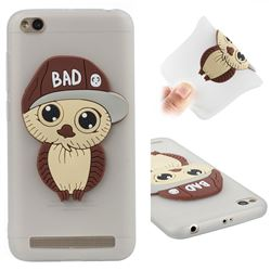 Bad Boy Owl Soft 3D Silicone Case for Xiaomi Redmi 5A - Translucent White