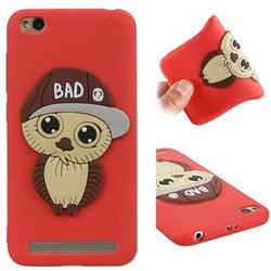 Bad Boy Owl Soft 3D Silicone Case for Xiaomi Redmi 5A - Red