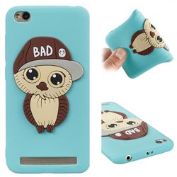 Bad Boy Owl Soft 3D Silicone Case for Xiaomi Redmi 5A - Sky Blue