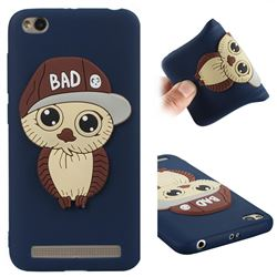 Bad Boy Owl Soft 3D Silicone Case for Xiaomi Redmi 5A - Navy