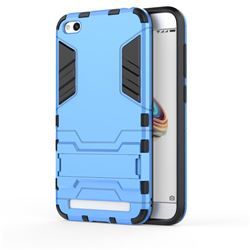 Armor Premium Tactical Grip Kickstand Shockproof Dual Layer Rugged Hard Cover for Xiaomi Redmi 5A - Light Blue