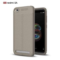 Luxury Auto Focus Litchi Texture Silicone TPU Back Cover for Xiaomi Redmi 5A - Gray