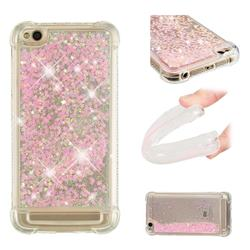 Dynamic Liquid Glitter Sand Quicksand TPU Case for Xiaomi Redmi 5A - Silver Powder Star