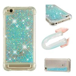 Dynamic Liquid Glitter Sand Quicksand TPU Case for Xiaomi Redmi 5A - Silver Blue Star