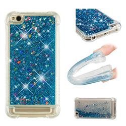 Dynamic Liquid Glitter Sand Quicksand TPU Case for Xiaomi Redmi 5A - Blue Love Heart