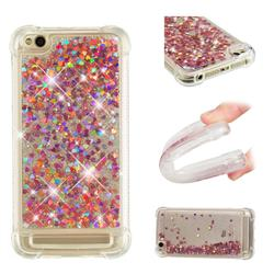Dynamic Liquid Glitter Sand Quicksand TPU Case for Xiaomi Redmi 5A - Rose Gold Love Heart