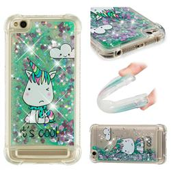 Tiny Unicorn Dynamic Liquid Glitter Sand Quicksand Star TPU Case for Xiaomi Redmi 5A