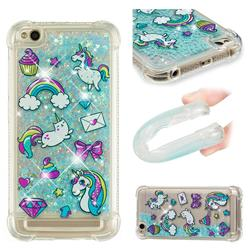 Fashion Unicorn Dynamic Liquid Glitter Sand Quicksand Star TPU Case for Xiaomi Redmi 5A