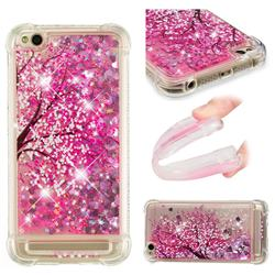Pink Cherry Blossom Dynamic Liquid Glitter Sand Quicksand Star TPU Case for Xiaomi Redmi 5A