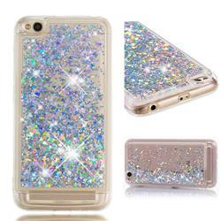 Dynamic Liquid Glitter Quicksand Sequins TPU Phone Case for Xiaomi Redmi 5A - Silver