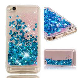 Dynamic Liquid Glitter Quicksand Sequins TPU Phone Case for Xiaomi Redmi 5A - Blue