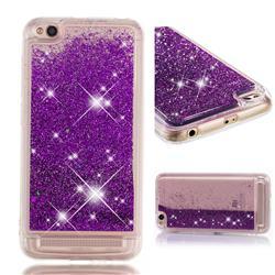 Dynamic Liquid Glitter Quicksand Sequins TPU Phone Case for Xiaomi Redmi 5A - Purple
