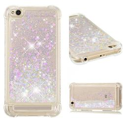 Dynamic Liquid Glitter Sand Quicksand Star TPU Case for Xiaomi Redmi 5A - Pink
