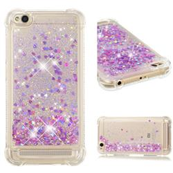 Dynamic Liquid Glitter Sand Quicksand Star TPU Case for Xiaomi Redmi 5A - Rose