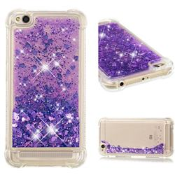 Dynamic Liquid Glitter Sand Quicksand Star TPU Case for Xiaomi Redmi 5A - Purple