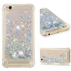 Dynamic Liquid Glitter Sand Quicksand Star TPU Case for Xiaomi Redmi 5A - Silver