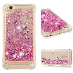 Dynamic Liquid Glitter Sand Quicksand Star TPU Case for Xiaomi Redmi 5A - Diamond Rose