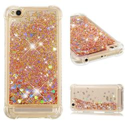 Dynamic Liquid Glitter Sand Quicksand Star TPU Case for Xiaomi Redmi 5A - Diamond Gold