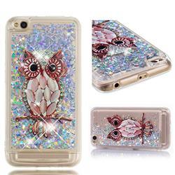 Seashell Owl Dynamic Liquid Glitter Quicksand Soft TPU Case for Xiaomi Redmi 5A