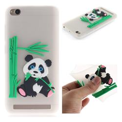 Panda Eating Bamboo Soft 3D Silicone Case for Xiaomi Redmi 5A - Translucent