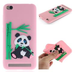 Panda Eating Bamboo Soft 3D Silicone Case for Xiaomi Redmi 5A - Pink