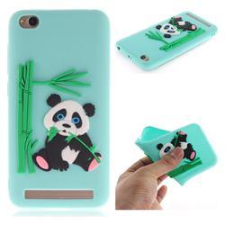 Panda Eating Bamboo Soft 3D Silicone Case for Xiaomi Redmi 5A - Green