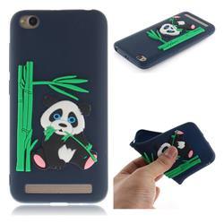 Panda Eating Bamboo Soft 3D Silicone Case for Xiaomi Redmi 5A - Dark Blue