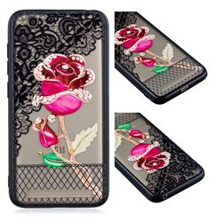 Rose Lace Diamond Flower Soft TPU Back Cover for Xiaomi Redmi 5A