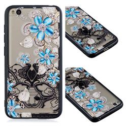 Lilac Lace Diamond Flower Soft TPU Back Cover for Xiaomi Redmi 5A