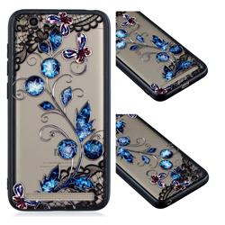 Butterfly Lace Diamond Flower Soft TPU Back Cover for Xiaomi Redmi 5A